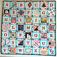 Small ABC's square quilt