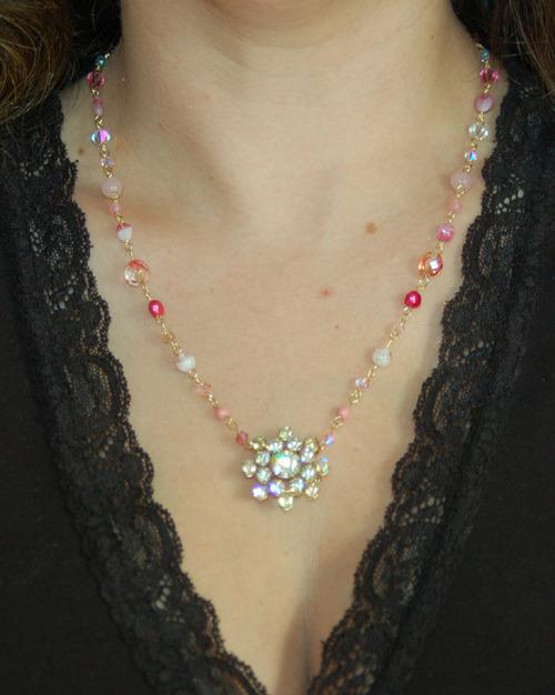 Necklacepinkgold